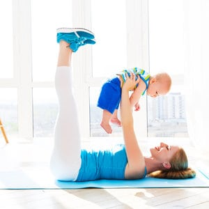 Mom-and-baby-exercising